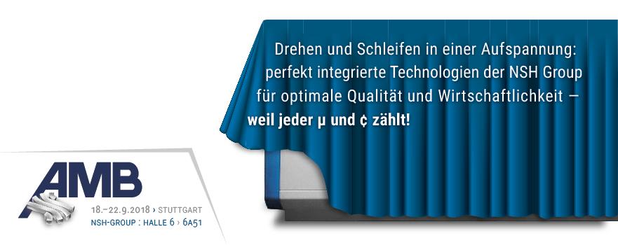 WEMA Und RASOMA Zeigen Dreh-Schleifzentrum Auf Dem Gemeinschaftsstand Der NSH-Group Auf Der AMBStuttgart | 18.–22.9.2018